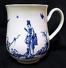 Dr. Wall Worcester Bell-Shaped Mug  c1757