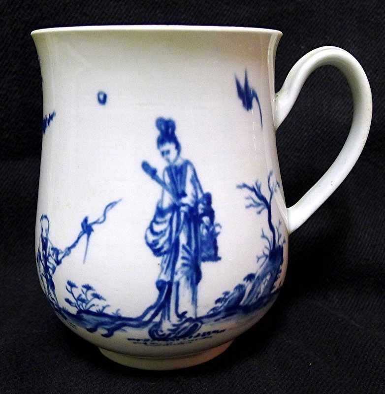Dr. Wall Worcester Bell-Shaped Mug  c1757