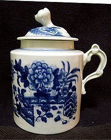 First Period Worcester Mustard Pot  c1770