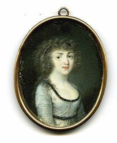 Miniature Portrait by Mario Salvi  c1795