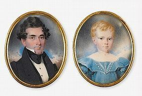 Two Incredible Miniatures by Hugh Bridport c1835