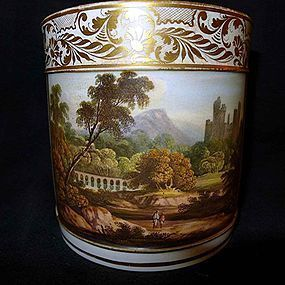 Superb Derby Porcelain Porter Mug c1810