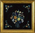 Tinsel Foil Painting with Great Frame 19th c