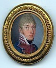Striking Portrait Miniature of Soldier c1830