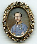 Miniature Painting of Military Man c1830