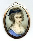 Portrait Miniature by John Barry c1790