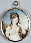 A Fine Portrait Miniature by Mary Ann Knight c 1815