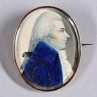 Exceptional American Miniature Portrait c1794