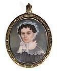 Beautiful American Portrait Miniature c1830