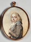 Striking Miniature Painting Attributed to Abraham/Joseph Daniel c1790