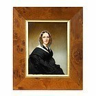 Magnificent Thomas Seir Cummings Portrait Miniature of a Woman c1841-5