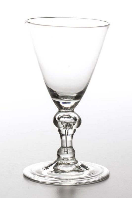 An Uncommon English Baluster Wine Glass c1710 - 1720
