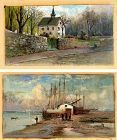 A Fine Pair of Small American Paintings by Carl Philipp Weber 19th C