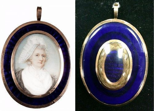 A Striking Jeremiah Meyer Portrait Miniature c1780