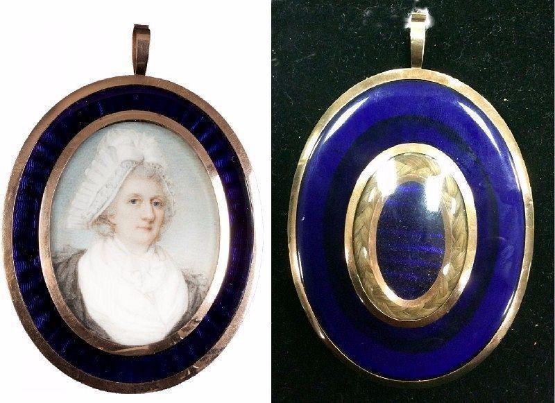A Striking Jeremiah Meyer Portrait Miniature c1780