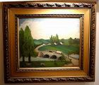 Important Antietam American Folk Art Painting c1886