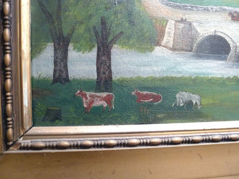 Important Antietam American Folk Art Painting c1886