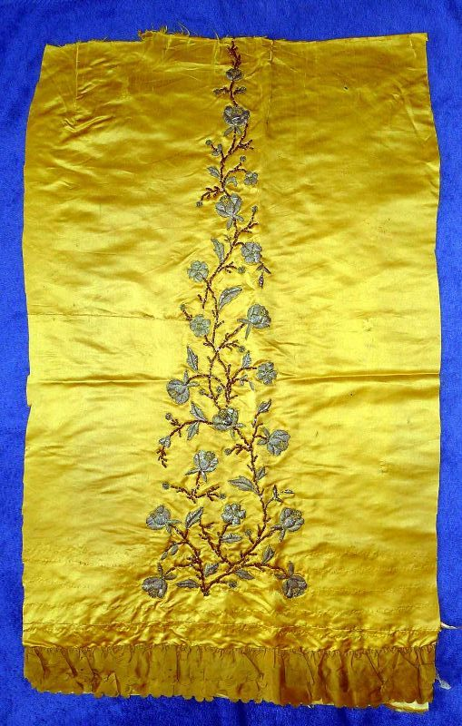 Early French Silk Textile Fragment c1750