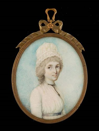 Nathaniel Plimer Miniature Portrait of a Woman c1785