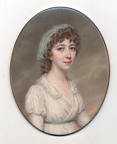 John Smart Superb Miniature Portrait c1797