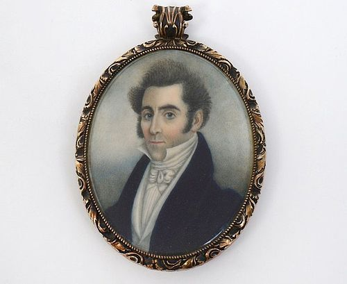 Early and Fine Abraham Parsell Miniature Portrait c1820