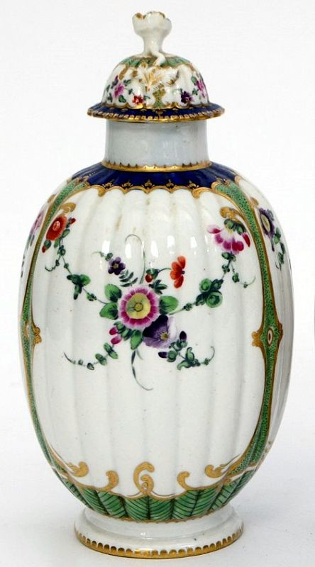 Dr. Wall Worcester Tea Canister c1775