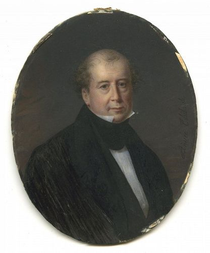 Aimee Thibault American Miniature Portrait c1834 - 1837