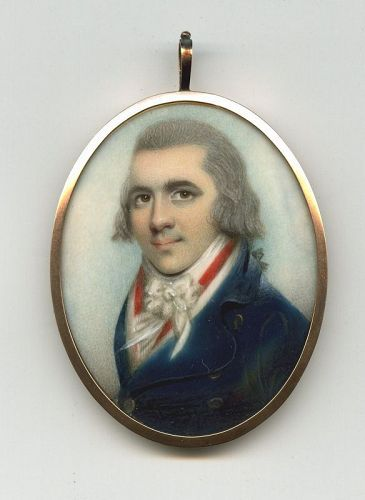 William Naish Miniature Portrait c1797