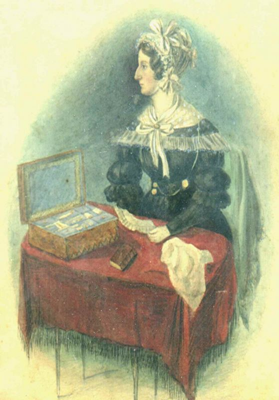 Portrait of a Woman Sewing c1840
