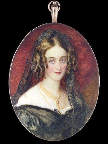 Simon Jacques Rochard English Portrait Miniature of Woman c1825-30