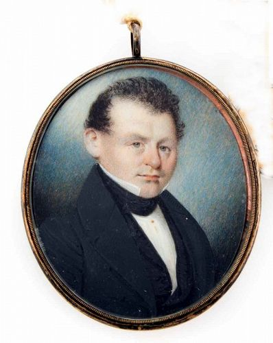 A William Lewis Portrait Miniature of a Gentleman c1825