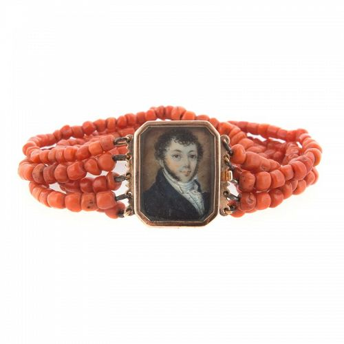 A Miniature Portrait in a Child's Bracelet c1800