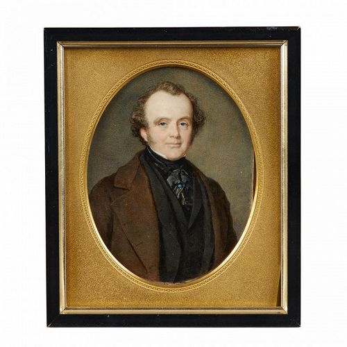 A Superb Miniature Portrait by Sir William Charles Ross  c1830