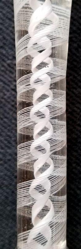 An English Georgian Ratafia Opaque Twist Glass c1765