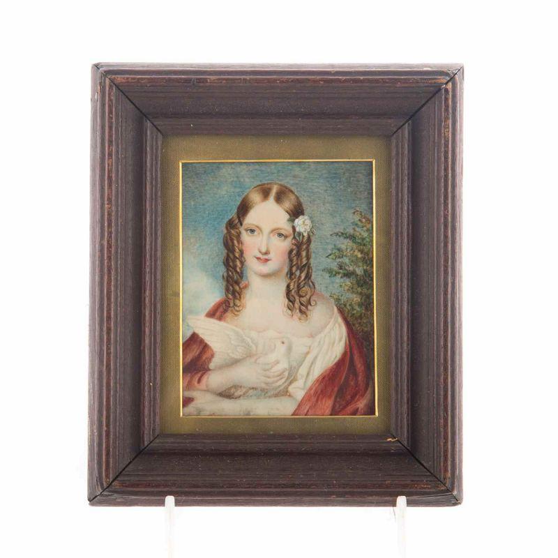 George Lethbridge Saunders Portrait Miniature c1836