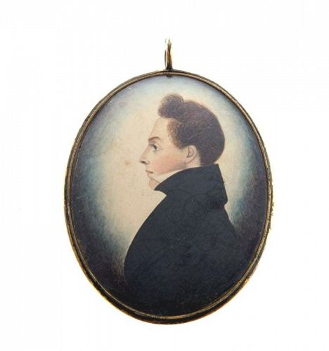 Fine Miniature Painting by J.H. Gillespie c1835