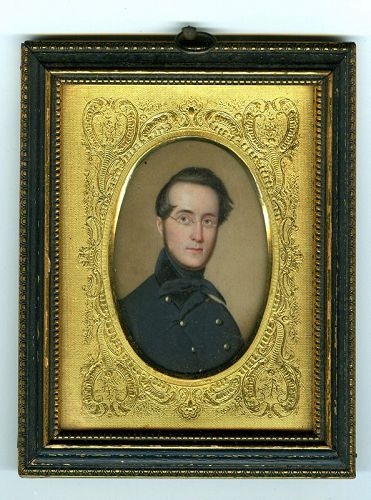 John Wood Dodge Miniature Painting c1850