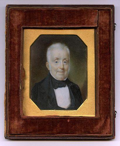 Edward Dalton Marchant American Portrait Miniature c1837