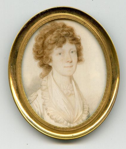 Rare William Lovett Portrait Miniature c1795