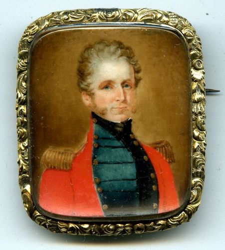 A Fine Miniature Painting of a British Officer c1825