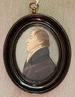 Miniature Profile Painting of Gentleman c1825