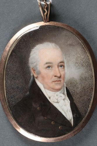 William Wood Miniature Portrait of a Gentleman c 1790