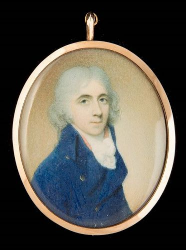 Walter Robertson Miniature Portrait of a Gentleman c1794