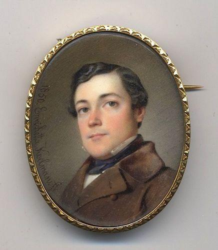 Enrichetta Narducci Koelman Miniature Portrait c1850