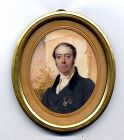 Simon Jacques Rochard Miniature Portrait c1815