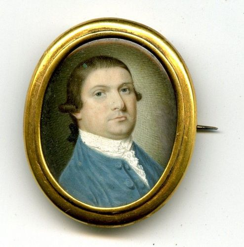 Rare Henry Benbridge Portrait Miniature c1780