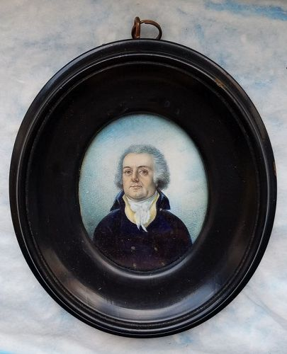 Signed Miniature Portrait of a Gent c1800