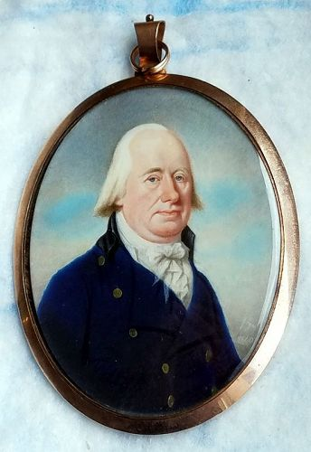 A Superb Alexander Gallaway Miniature Portrait c1800