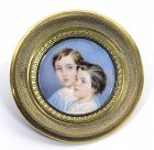 William Egley Portrait Miniature of Two Children c1840