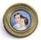 William Egley Portrait Miniature of Two Children c1840